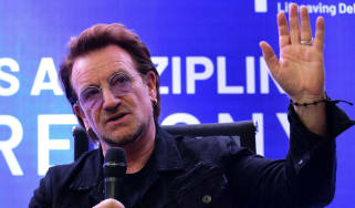 U2 frontman Bono was a guest at Ireland's training camp this week