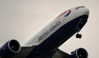 A British Airways flight takes off