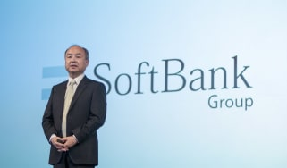 Masayoshi Son, chairman and chief executive officer of SoftBank Group Corp., speaks during a news conference in Tokyo, Japan, on Wednesday, Feb. 12, 2020. SoftBanklost money in its Vision Fun