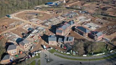 A housing development in Warrington, England