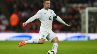 Wayne Rooney of England in action during the EURO 2016 Qualifier Group E match between England and Slovenia
