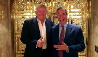 Ukip's Nigel Farage and US president-elect Donald Trump pose for a photo, days after the US election in November
