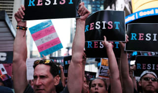 US protest - transgender military ban
