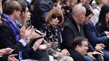 PARIS, FRANCE - OCTOBER 01: Anna Wintour attend the Chloeshow as part of the Paris Fashion Week Womenswear Spring/Summer 2016 on October 1, 2015 in Paris, France.(Photo by Pascal Le Segretain