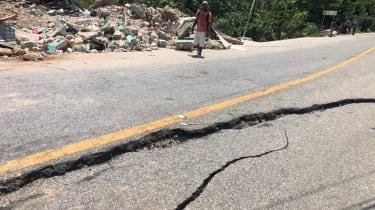 Cracks in main road
