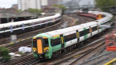 Train heading towards Victoria