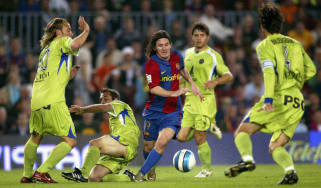 Lionel Messi's goal against Getafe in 2007 was voted Barcelona's best ever by supporters