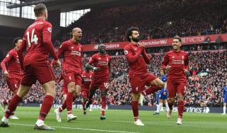 Liverpool forward Mohamed Salah scored a superb long-range goal against Chelsea at Anfield