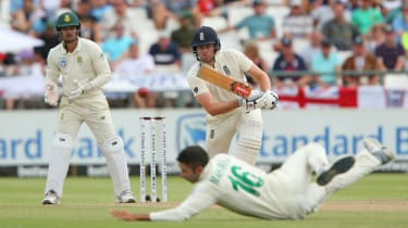 Dom Sibley hit 85 not out in England's second innings against South Africa in Cape Town