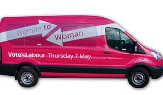 Labour's pink van