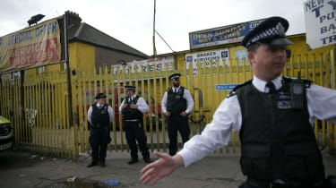 Police guard house in Barking