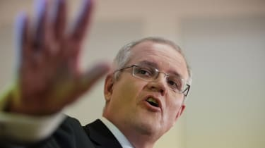 CANBERRA, AUSTRALIA - MAY 09:Treasurer Scott Morrison speaks to the media during a press conference at Parliament House on May 9, 2017 in Canberra, Australia. The treasurer will identify key
