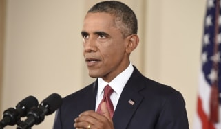 Barack Obama, a televised speech