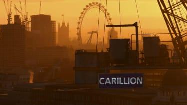 Carillion logo in the London skyline