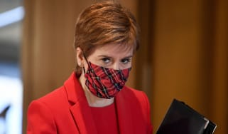 Nicola Sturgeon attends a debate at the Scottish Parliament