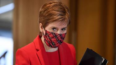 Nicola Sturgeon attends a debate at the Scottish Parliament