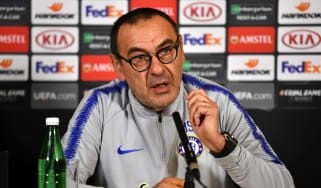 Chelsea head coach Maurizio Sarri spoke to the media ahead of the Europa League final