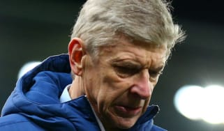 Arsenal Manager Arsene Wenger at the end of the Barclays Premier League match between Stoke City and Arsenal