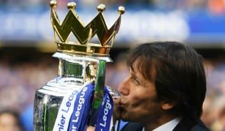 Antonio Conte, Chelsea, Premier League trophy