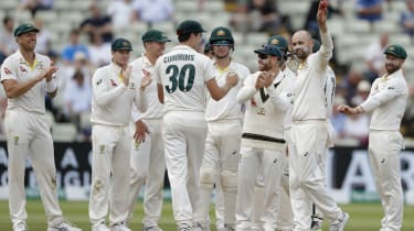 Australia spinner Nathan Lyon did the most damage taking 6-49 at Edgbaston