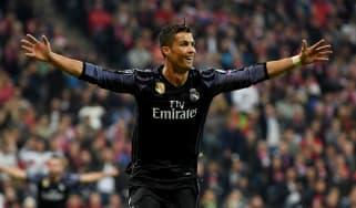 Cristiano Ronaldo against Bayern Munich