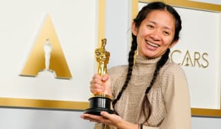 Nomadland director Chloe Zhao at the 2021 Oscars