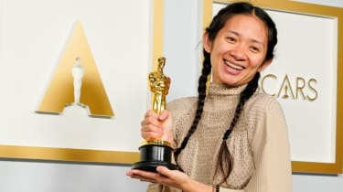 Nomadland director Chloe Zhao at the 2021 Oscars