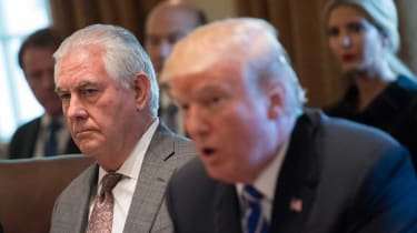 White House policy stance shows growing rift between Tillerson and Trump