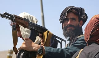 Taliban fighters enter Kabul on 16 August 2021