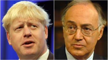 Boris Johnson and Michael Howard