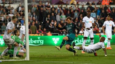 Gabbiadini Southampton Swansea Premier League