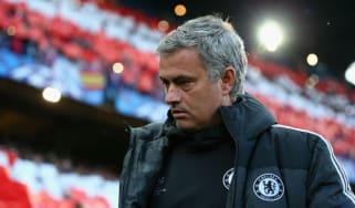 Jose Mourinho at the Vicente Calderon