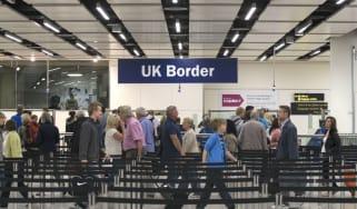 UK border controls at Gatwick airport