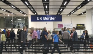UK border controls at Gatwick airport