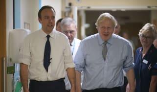 Matt Hancock and Boris Johnson