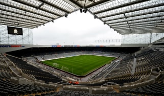 Newcastle play their home games at St James' Park