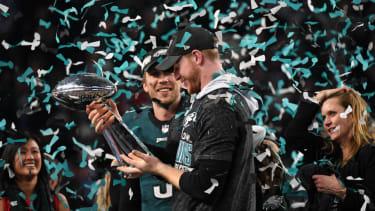 Philadelphia Eagles NFL Super Bowl Nick Foles Carson Wentz Patriots