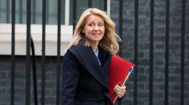 Work and Pensions Secretary Esther McVey leaves Downing Street