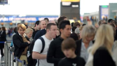 Heathrow queue