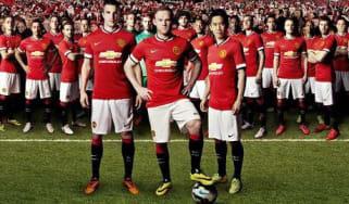 Man United home kit Chevrolet