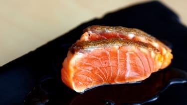Trout sushi at Maru