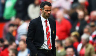 Giggs in his role as interim Man United manager