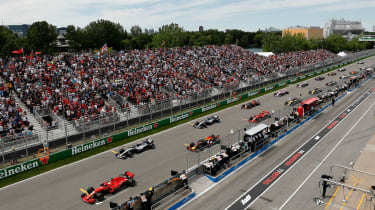 The F1 Canadian GP is held at the Circuit Gilles-Villeneuve in Montreal