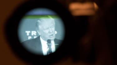 Donald Trump through a camera lens