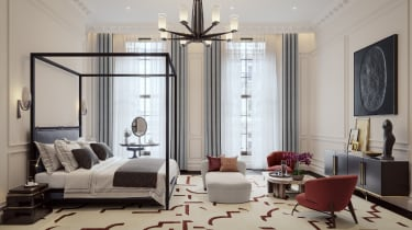 Master bedroom at The OWO Residences by Raffles