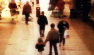 James Bulger and his killer Jon Venables caught on CCTV