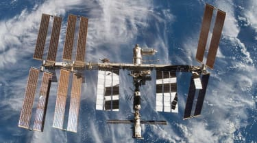 Astronauts have repaired a hole in the ISS after it was struck by micro-meteorite