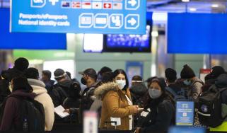 A queue at passport control in Heathrow Terminal Five