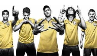 Brazil World Cup kit, Neymar, David Luiz, Oscar
