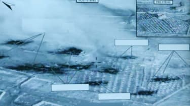 Pentagon image on US strikes in Syria